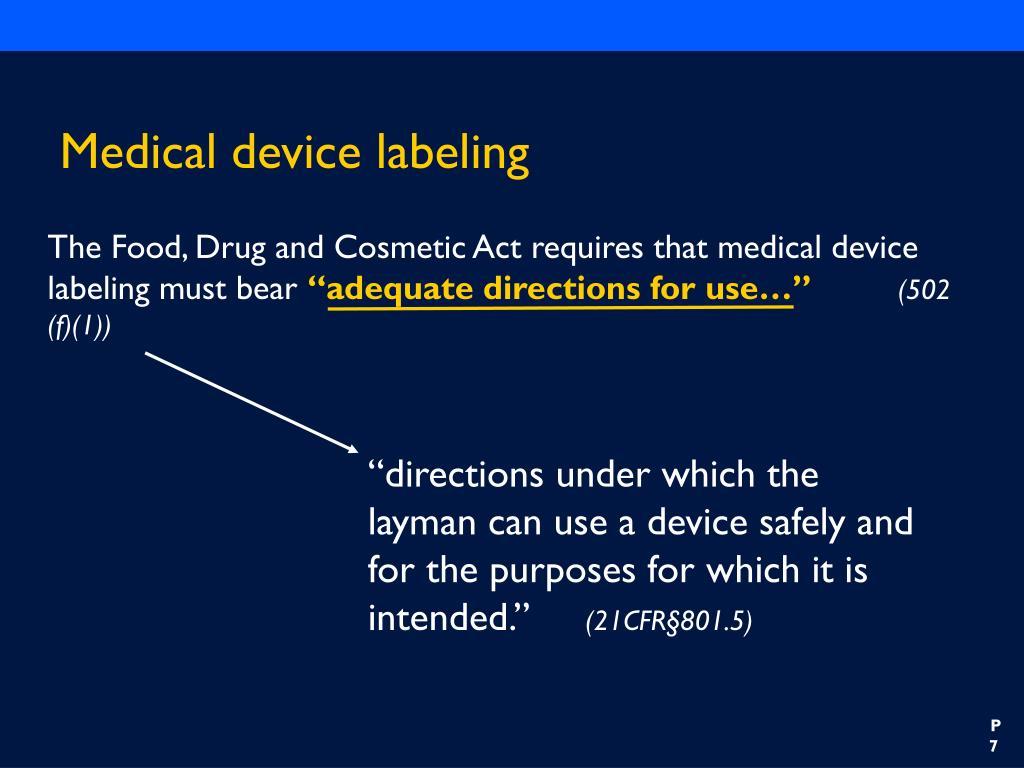 Medical device labeling
