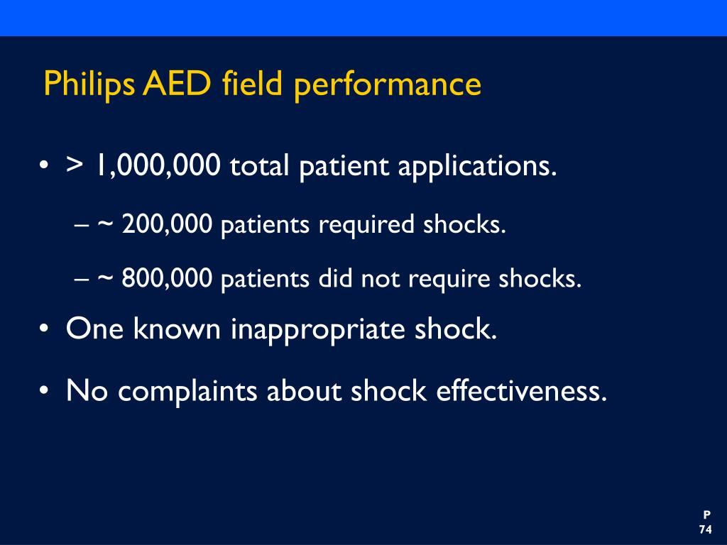 Philips AED field performance