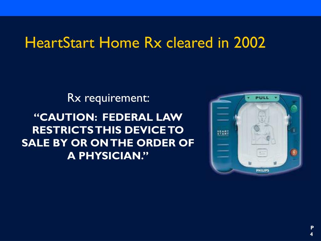 HeartStart Home Rx cleared in 2002