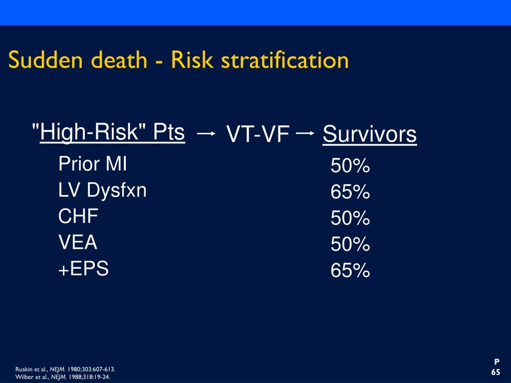 Sudden death - Risk stratification