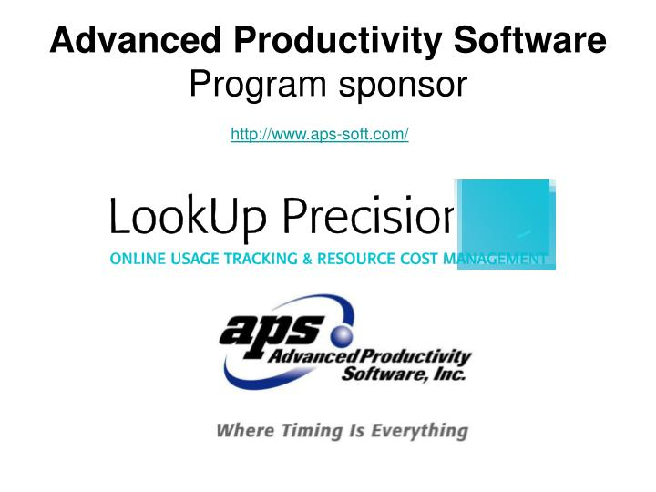 Advanced productivity software program sponsor