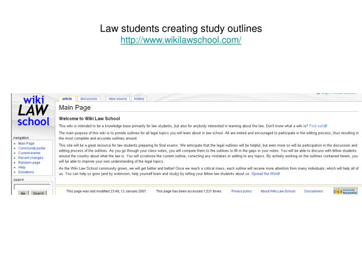 Law students creating study outlines