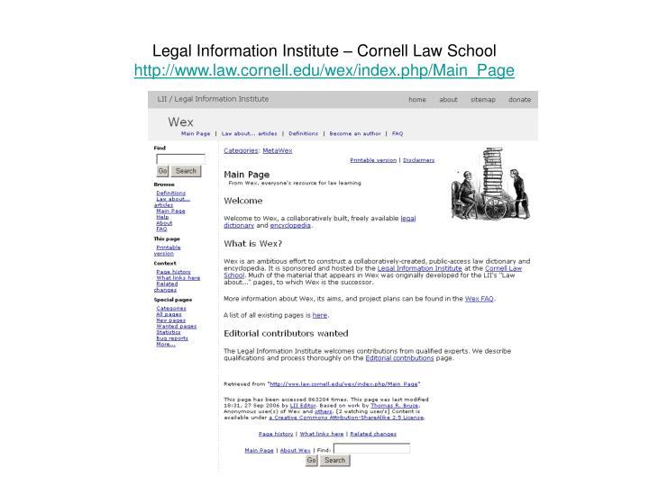 Legal Information Institute – Cornell Law School