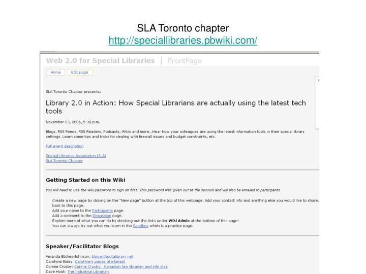 SLA Toronto chapter
