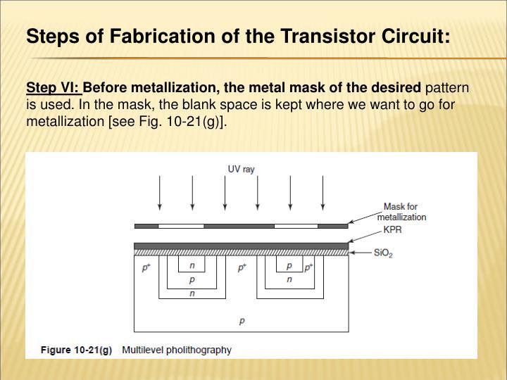 Nmos fabrication steps ppt presentation