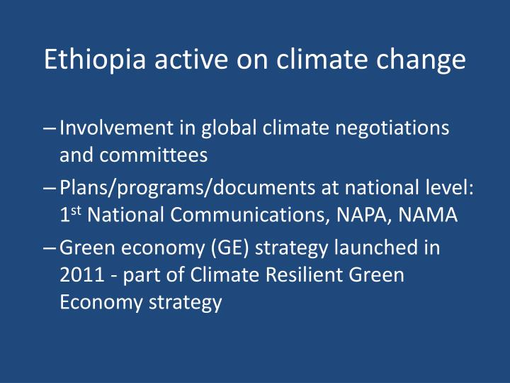 Ethiopia active on climate change