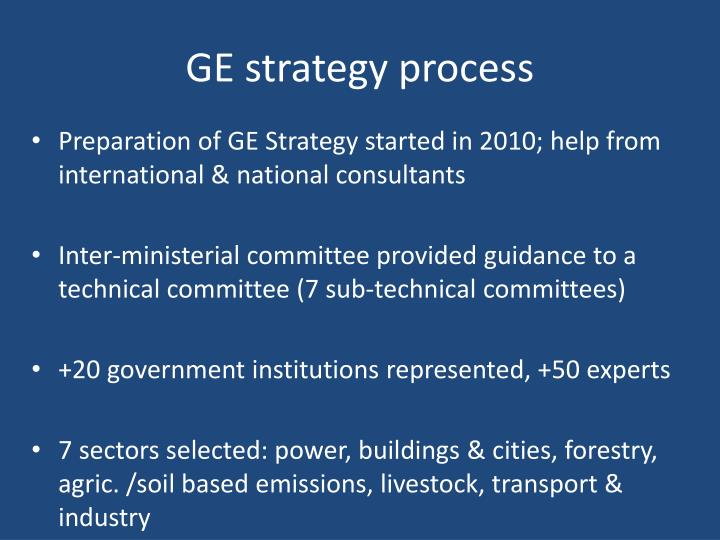 GE strategy process