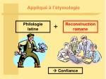 appliqu l tymologie
