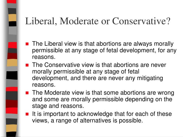 Liberal, Moderate or Conservative?