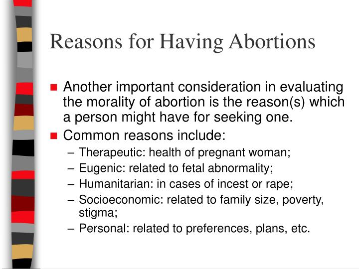 Reasons for Having Abortions