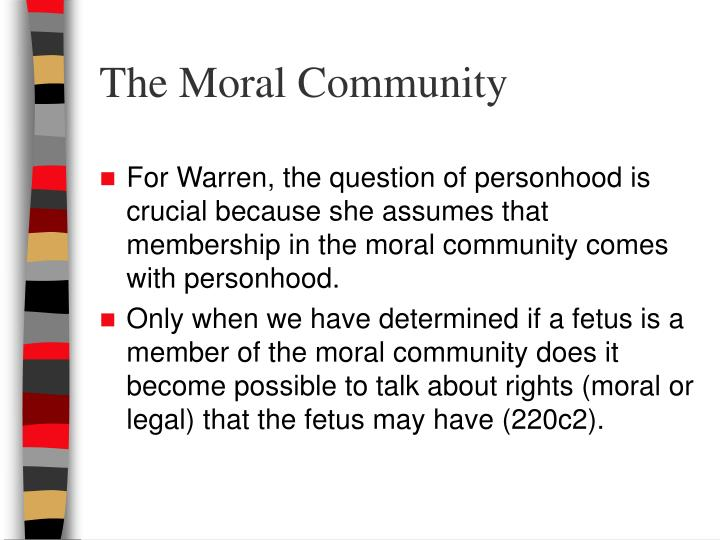 The Moral Community