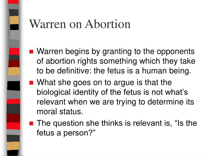 Warren on Abortion