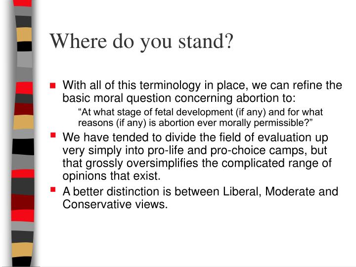 Where do you stand?