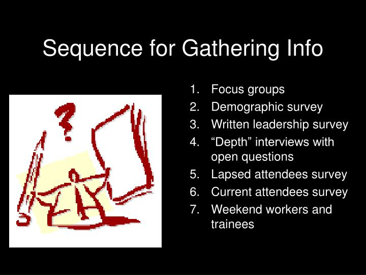 Sequence for Gathering Info