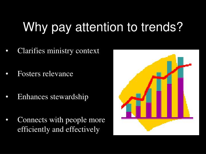 Why pay attention to trends?