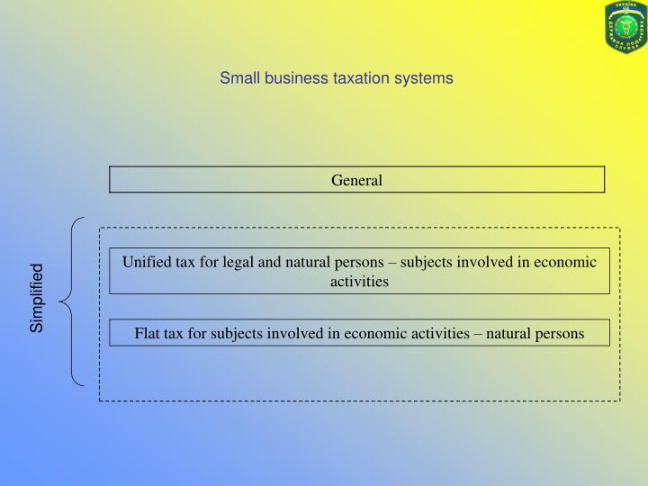 Small business taxation systems