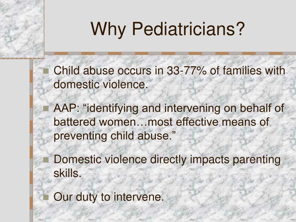 Why Pediatricians?