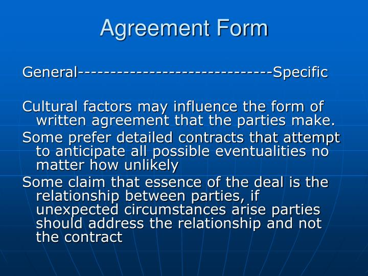 Agreement Form