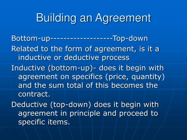 Building an Agreement