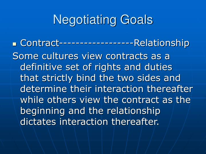 Negotiating Goals