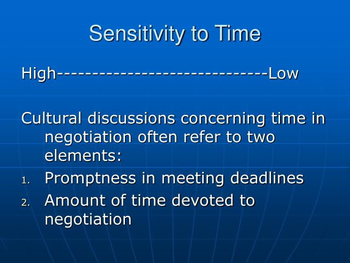 Sensitivity to Time