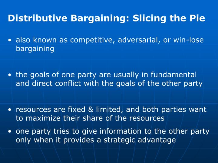 Distributive Bargaining: Slicing the Pie