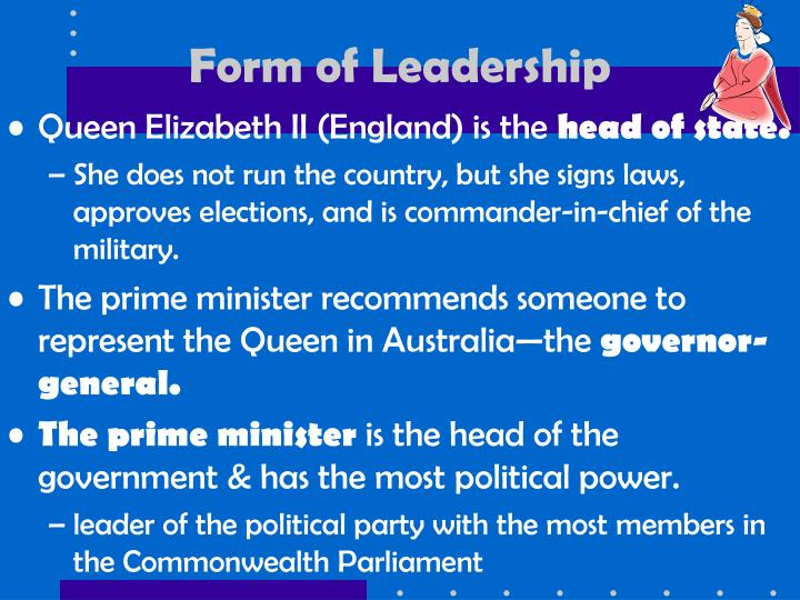 Form of Leadership
