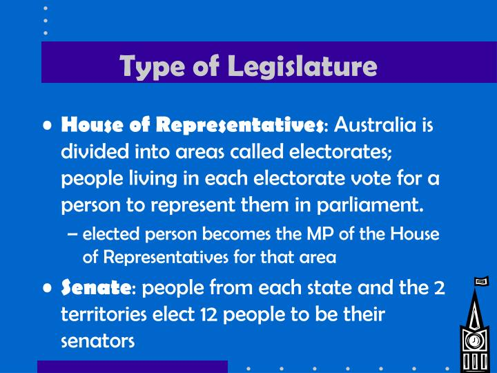 Type of Legislature
