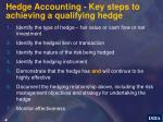 hedge accounting key steps to achieving a qualifying hedge