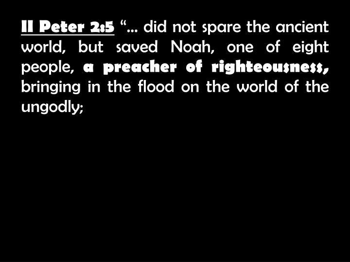 II Peter 2:5