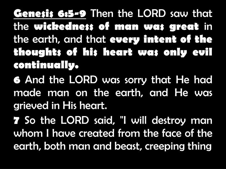 Genesis 6:5-9