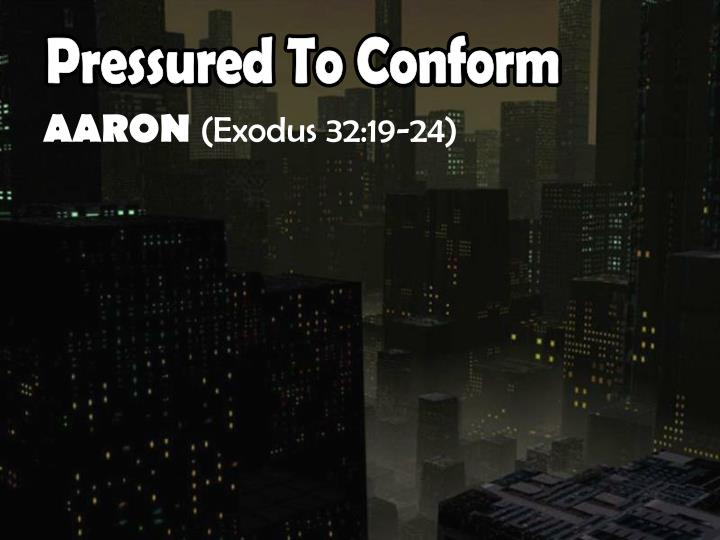 Pressured To Conform
