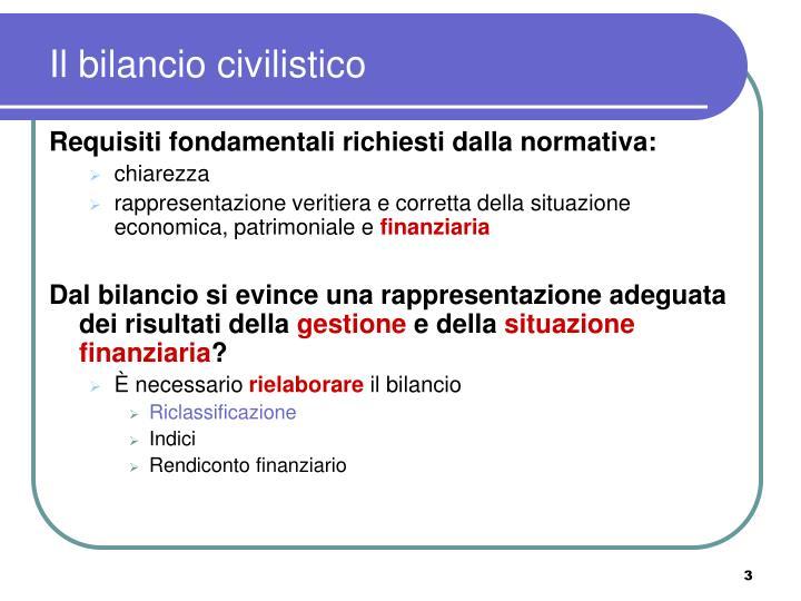 Il bilancio civilistico