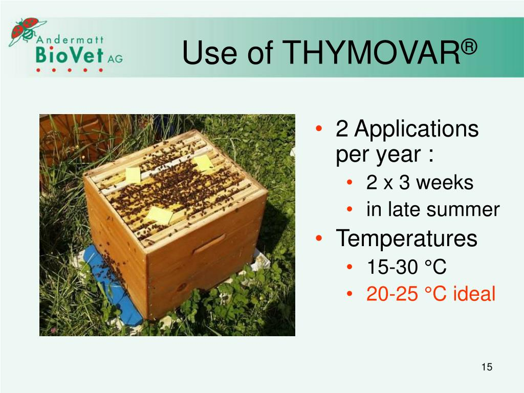 Use of THYMOVAR