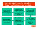 sample supply chain for chocolate stage 2 3 production and distribution