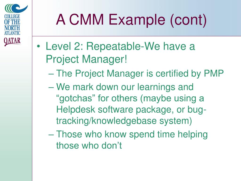 A CMM Example (cont)