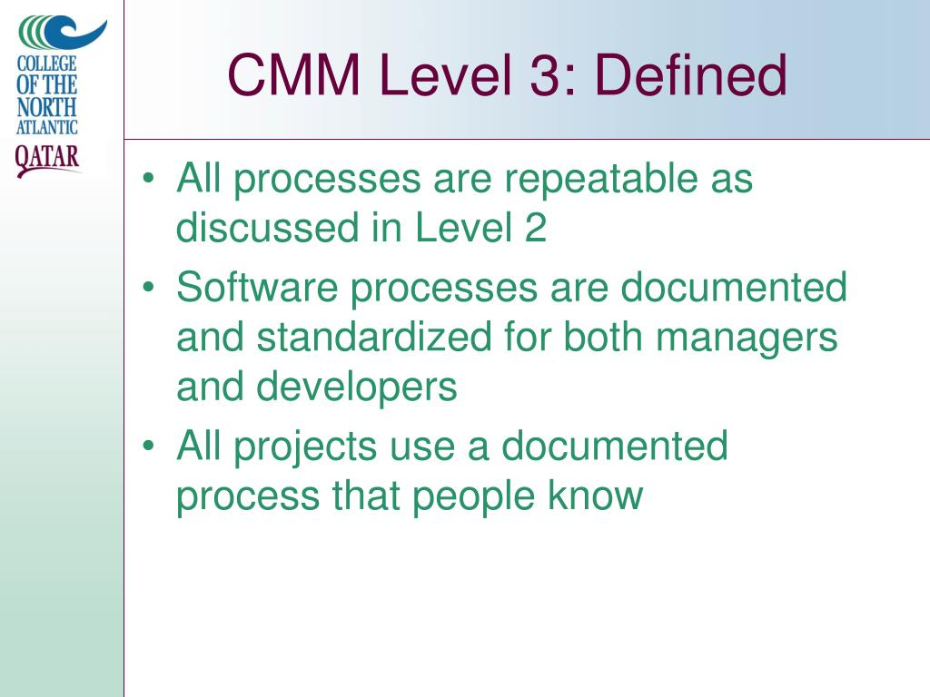 CMM Level 3: Defined