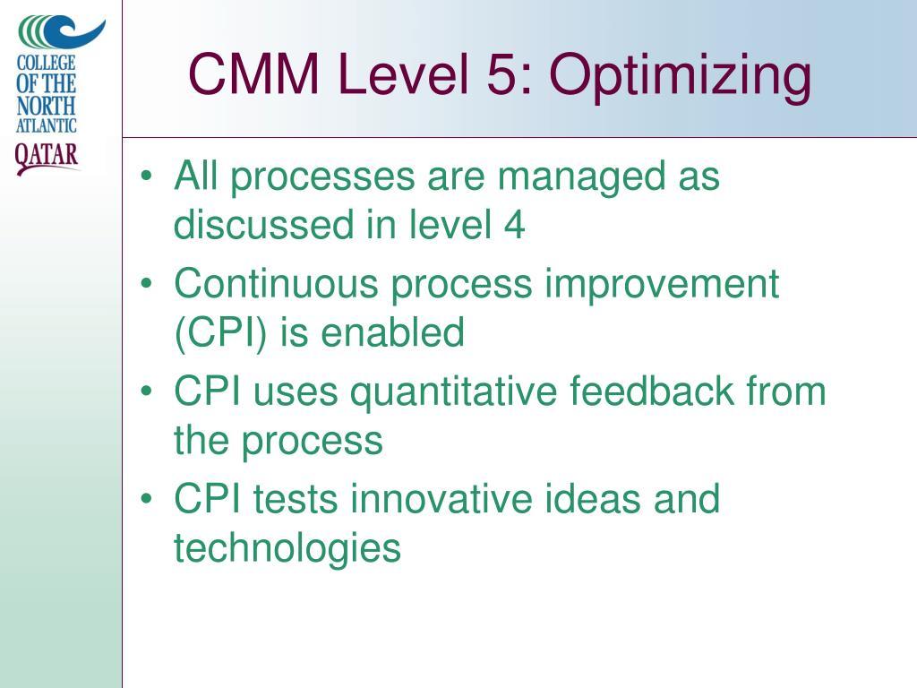 CMM Level 5: Optimizing