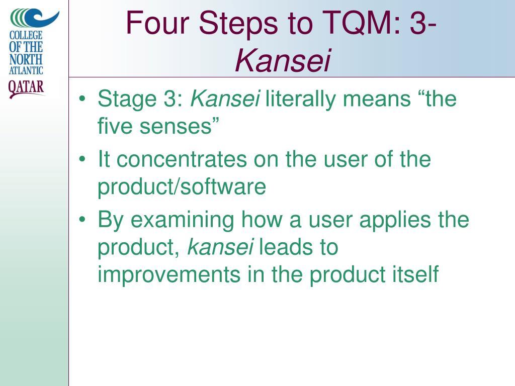 Four Steps to TQM: 3-