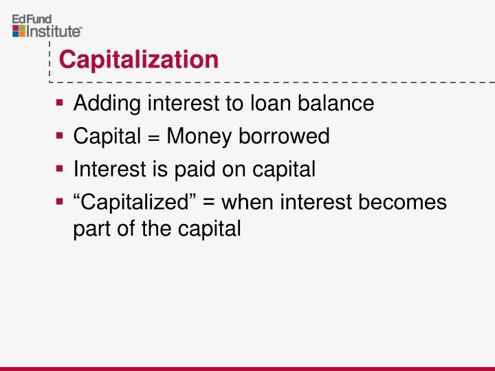 Adding interest to loan balance