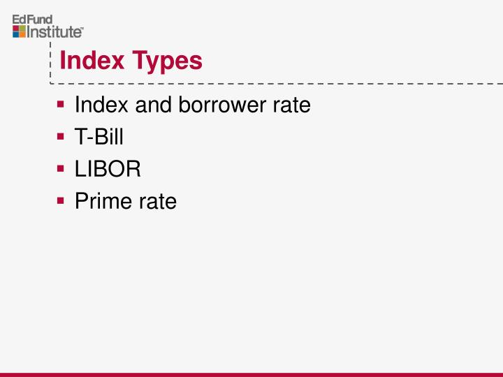 Index and borrower rate