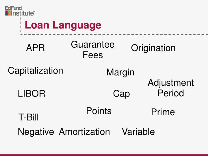 Loan Language