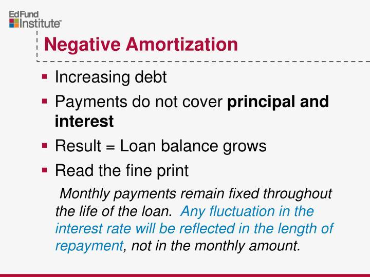 Increasing debt