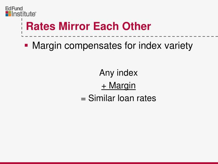 Margin compensates for index variety
