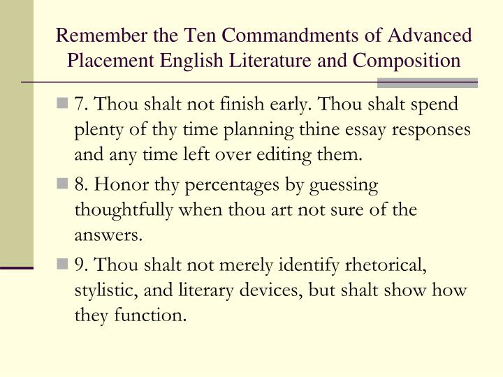 english literature advanced placement nonfiction essay questions For the first essay, a common theme in american literature  questions on the american literature  of american literature from a college english.