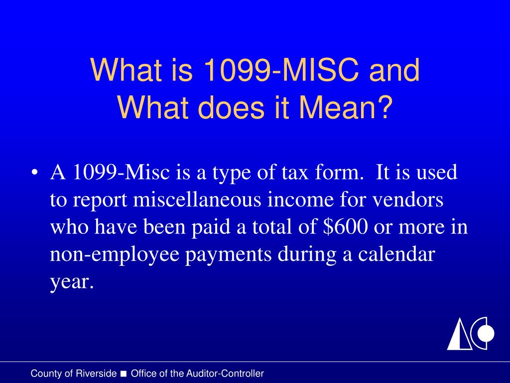 What is 1099-MISC and