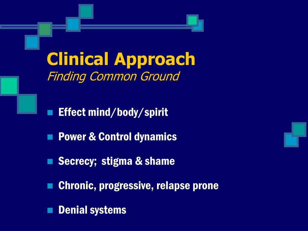 Clinical Approach