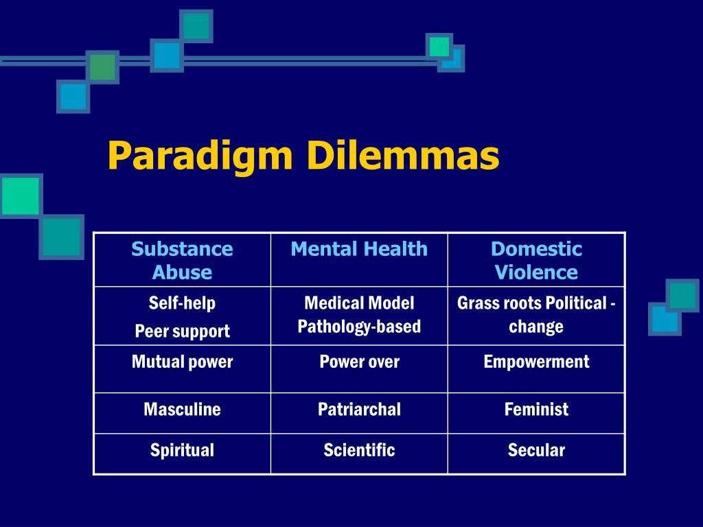 Paradigm Dilemmas
