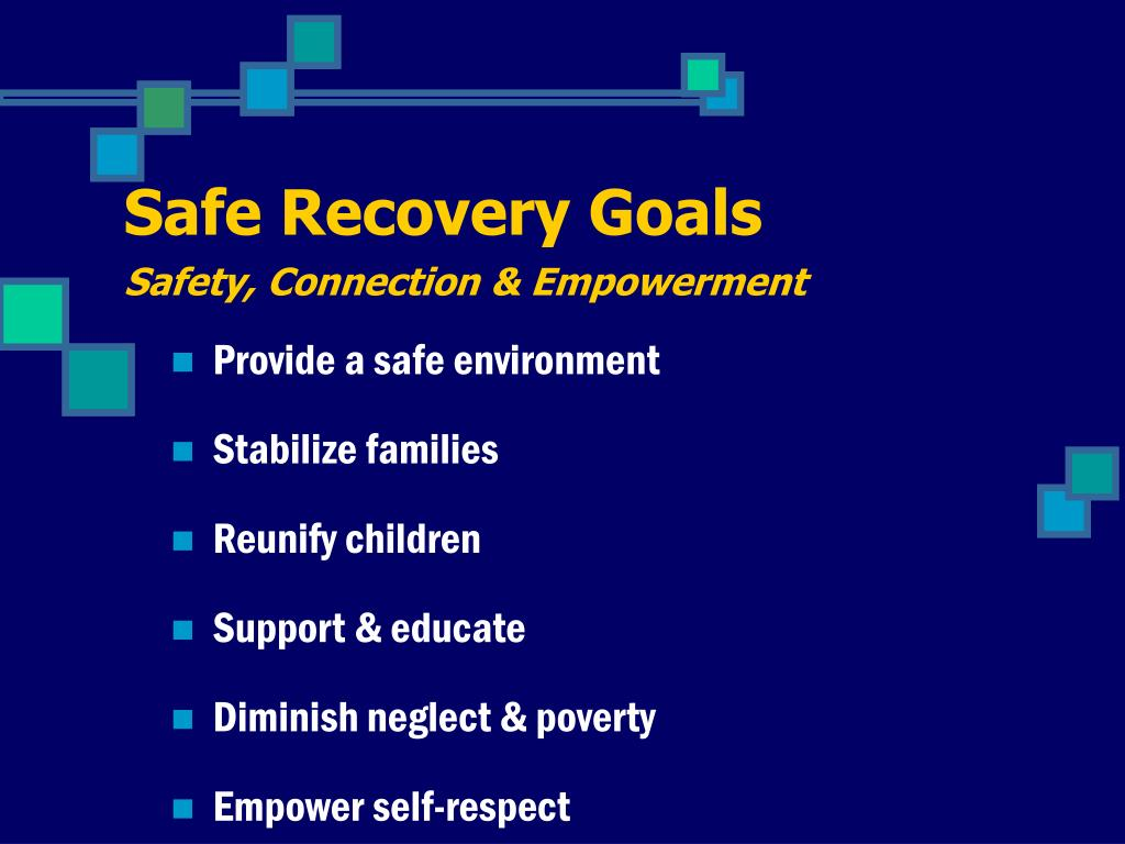 Safe Recovery Goals