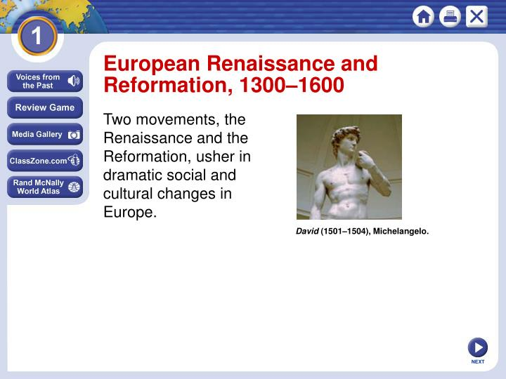 European Renaissance and